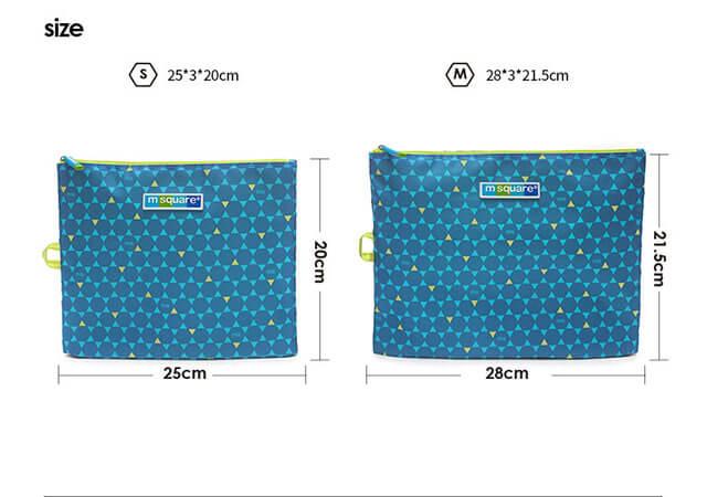 Фото размеры комплекта мешочков на молнии в синий ромб. Товары для отдыха. Интернет-магазин В Отпуск