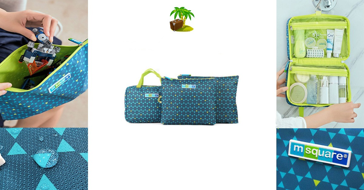Фото для соцсетей подарок свекрови синий. Набор косметичка с вешалкой и мешочки на молнии